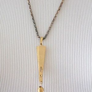 elle saint deveil Jewelry - Women's Vintage Gold Fan Pendant Necklace